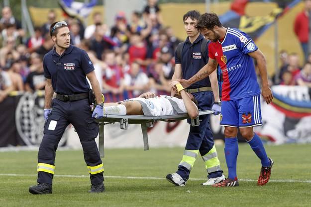 Delgado wünscht seinem verletzten Gegenspieler gute Besserung.
