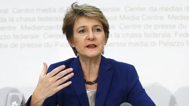 Bundesrätin Simonetta Sommaruga erarbeitete die Gegenvorschläge zur Rasa-Initiative