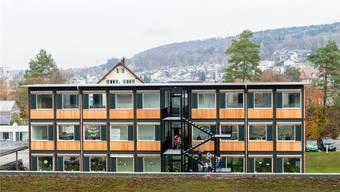 Die Pavillons bieten Platz für sechs Schulzimmer und drei Gruppenräume. Archiv/SAN