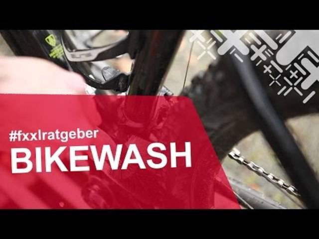 Was braucht man zum Fahrrad putzen? Markus machts vor.
