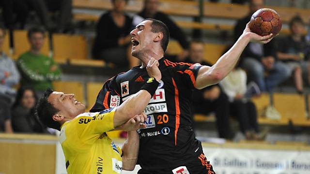Schaffhausens Aleksander Stojanovic traf gleich neunmal ins Netz.