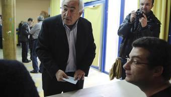 Dominique Strauss-Kahn (bei der Stimmabgabe am vergangenen Sonntag)
