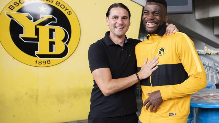 Zwei Baumeister des YB-Erfolgs: Trainer Gerardo Seoane und Stürmer Jean-Pierre Nsame.