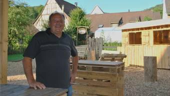 OK-Präsident Meinrad Schibli ist über die Dimensionen, die das Dorffest in Zeiningen angenommen hat, selber erstaunt. Nadine Böni