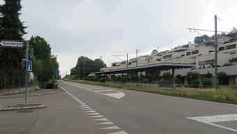In diesem Bereich der Mutschellenstrasse wird in Zufikon im Juni/Juli gebaut.