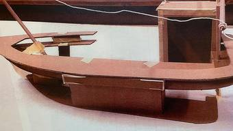 Modell der geplanten kutterförmigen Hafenbar auf dem Markus-Roth-Platz im «Im Lenz».