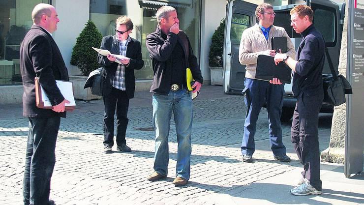 Augenschein in der Aarauer Altstadt: Das Zusammenspiel zwischen Stadtfest und Fernsehsendungen ist eine grosse Herausforderung und will gut geplant sein.   Foto: zvg