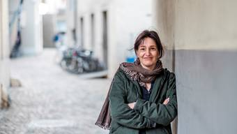 Andrea Trueb in Aarau, wo die 44-jährige Journalistin mit ihrer Familie lebt.