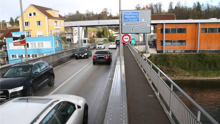 Der Grenzübergang  Koblenz: Nur während Corona war es hier ruhiger. (Archivbild)