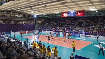 Die Volleyballerinnen von Volero Zürich bei ihrem letzten Auftritt in der Saalsporthalle