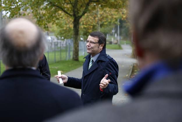 AEK Direktor Walter Wirth bei seiner Ansprache