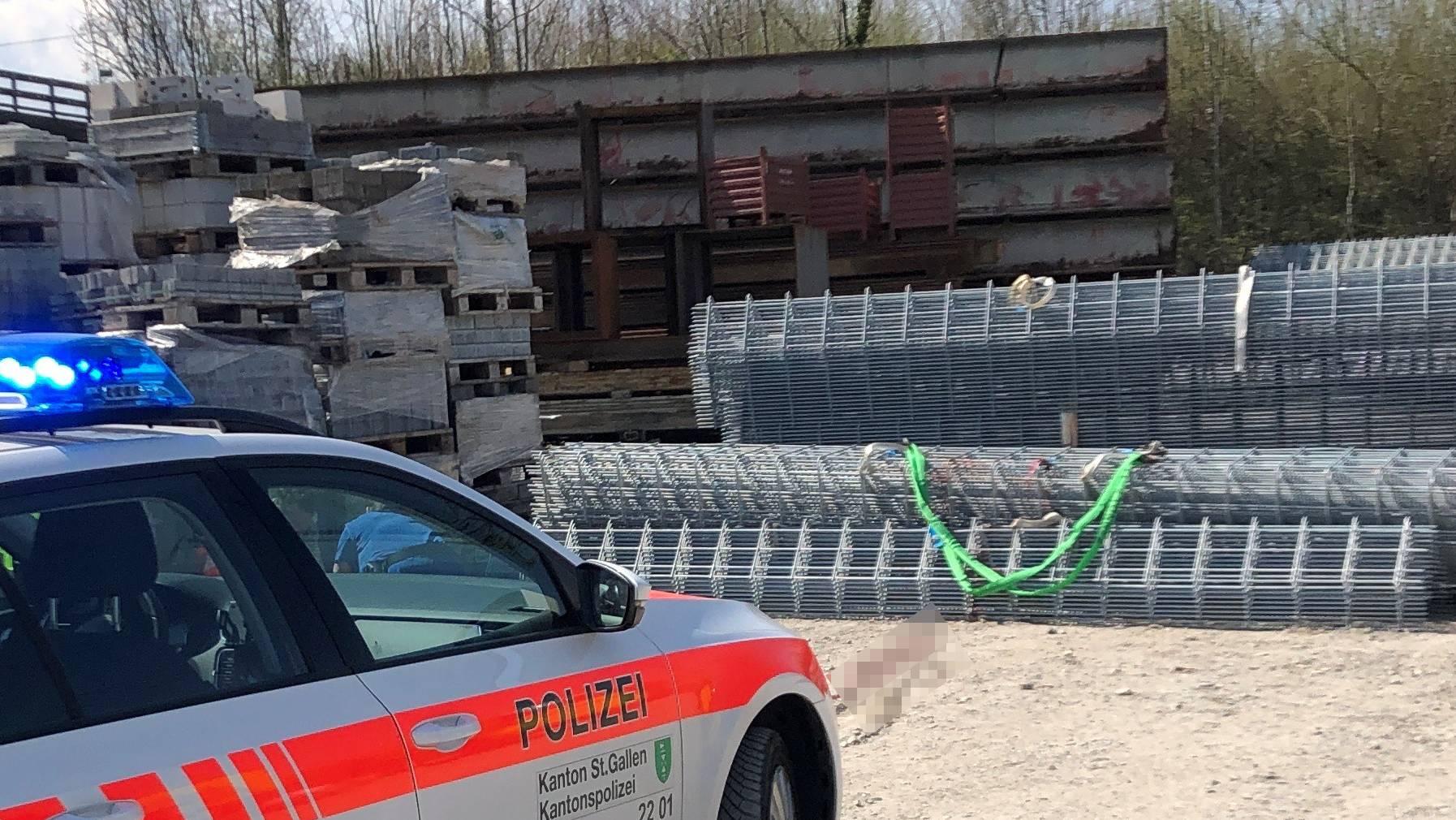 Der Arbeitsunfall ereignete sich am Mittwoch in Mörschwil.