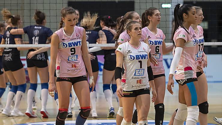Enttäuschung bei den Volleyballerinnen von Sm'Aesch Pfeffingen: Die Europacup-Saison wird wegen Coronavirus ohne das Team aus Baselland stattfinden