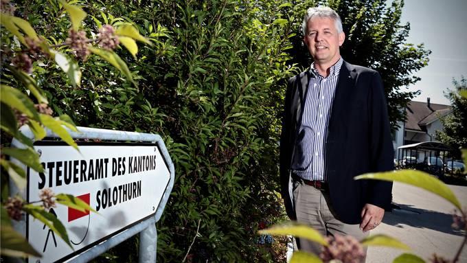 Ein Bild aus vergangenen Zeiten. Am letzten Samstag musste Marcel Gehrig seinen Posten als Chef des kantonalen Steueramtes räumen.Archiv