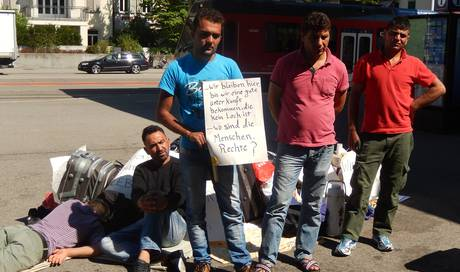 die zehn asyl protestler aus solothurn m ssen. Black Bedroom Furniture Sets. Home Design Ideas