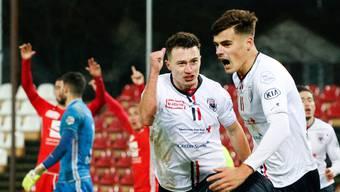 Viel Grund zum Jubeln, leider vor leeren Rängen: Der FC Aarau im ersten Halbjahr seit dem Trainer- und Strategiewechsel.