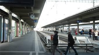 Der provisorische Bahnhof bei der Sihlpost ist noch bis Juni 2014 in Betrieb.