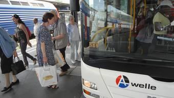 Die A-Welle: Rollt Der Fahrplanwechsel im Dezember bringt beim Tarifverbund A-Welle grosse Veränderungen mit sich. Mit der kantonsübergreifenden Vereinheitlichung soll das Reisen einfacher werden. Walter Schwager