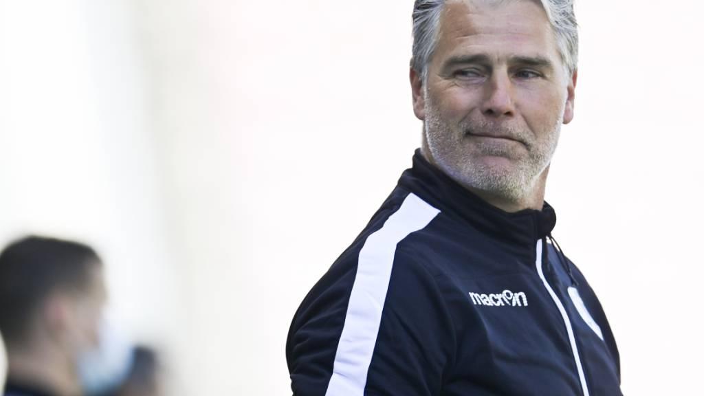 Hat gut Lachen: Marco Walker bleibt nach dem geschafften Ligaerhalt Sion-Trainer