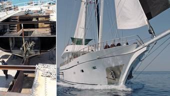 Familie Andres aus Wiliberg baut rostigen Frachter in Luxusschiff um
