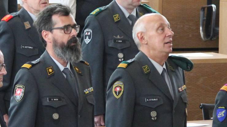 Dieter Wicki und Rolf Stäuble (r.), aufgenommen im Mai 2019.