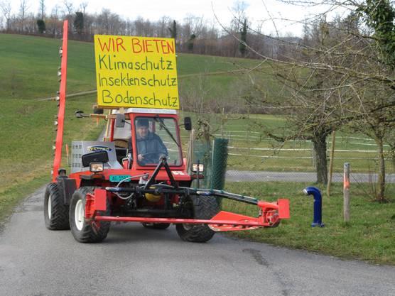 Die Batterie seines Reform-Traktors hält im Schnitt sieben bis acht Stunden.
