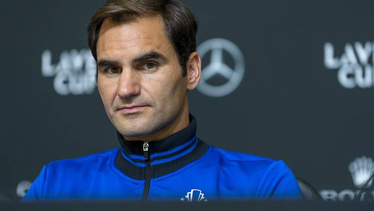 Roger Federer am von Team 8 organisierten Laver Cup.