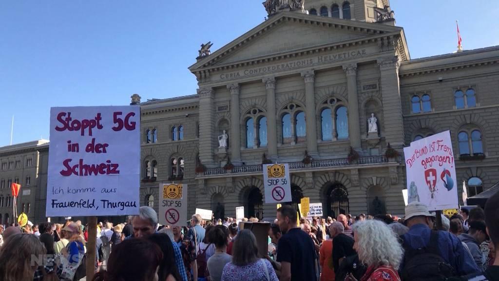5G-Demo auf dem Bundesplatz