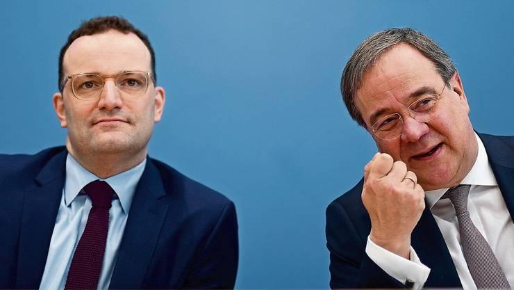 Als Duo ins Rennen um den CDU-Vorsitz: Armin Laschet (rechts) und Jens Spahn.
