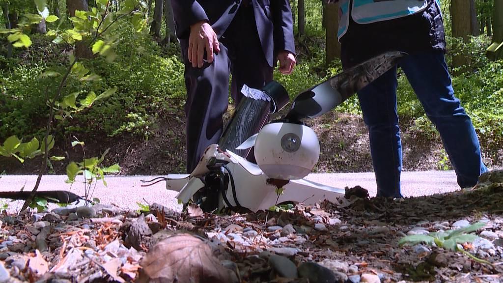 Post-Drohne wegen des Windes abgestürzt?