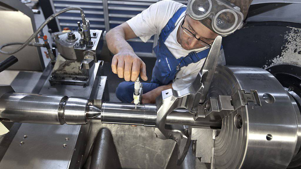 Nochmals tiefere Umsätze aber mehr Aufträge: Die Maschinen-, Elektro- und Metallindustrie hat den Tiefpunkt überwunden. (Symbolbild)