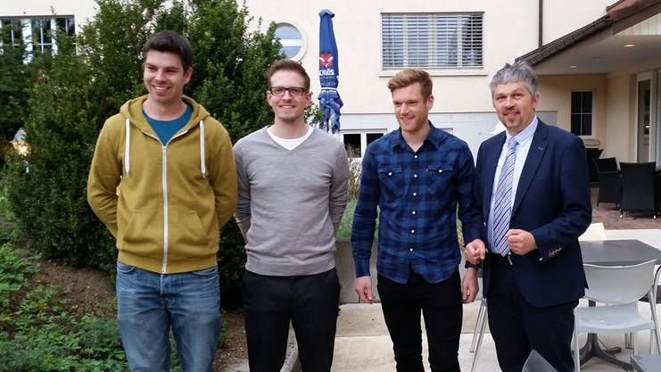 Stefan Borer, Raphael Hartmann und Ernst Christ (v.l.) wurden durch Verbandspräsident Urs Weder geehrt.