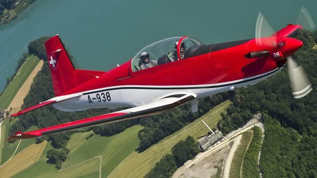 Können ersetzt werden: Trainingsflugzeuge PC-7 aus den 90er Jahren in den Vereinigten Arabischen Emiraten (Symbolbild)
