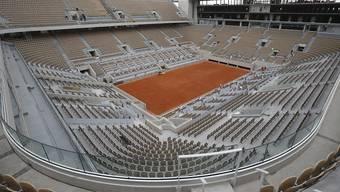 Dem renovierten 15'000 Zuschauer fassenden Court Philippe Chatrier fehlt nur noch das Dach