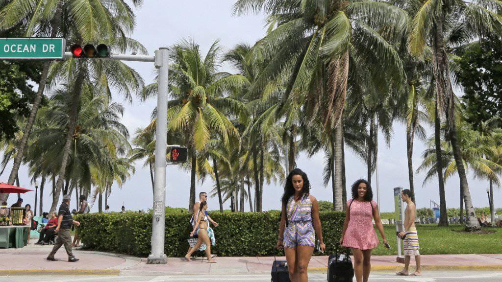 Sperrgebiet für Schwangere: Vor der Reise nach Miami Beach wird gewarnt, nachdem dort Mücken mit dem Zika-Virus entdeckt wurden.