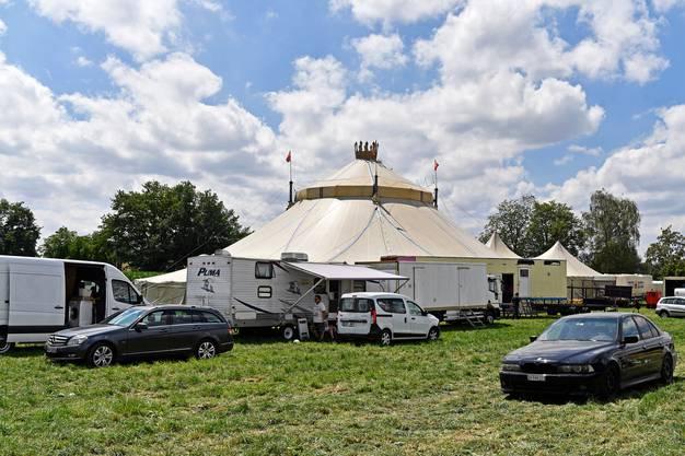 Das Zirkuszelt des Circus Royal, hier in Affoltern am Albis, gehörte nicht der Gesellschaft hinter dem Zirkus.