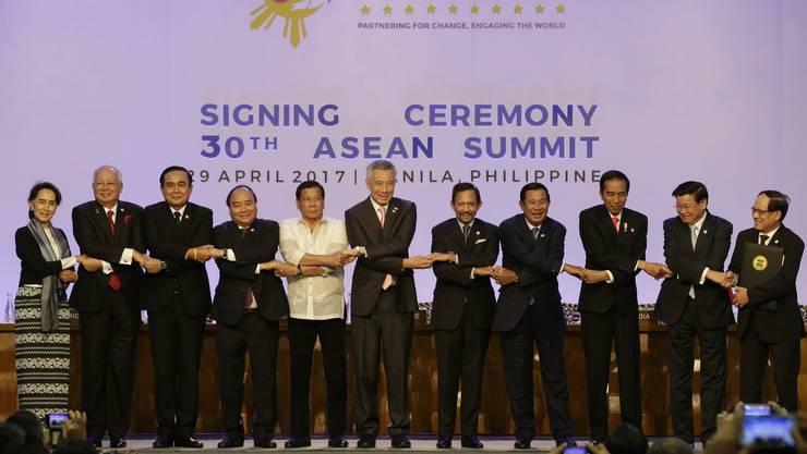 Die Staats- und Regierungschefs aus dem Verband Südostasiatischer Nationen, kurz Asean.