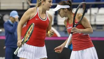 Bisher letzter Einsatz: Belinda Bencic (li.) im Fed-Cup-Doppel mit Martina Hingis
