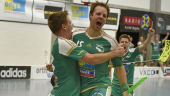 Ein Bild, das es nie mehr zu sehen geben wird: Christoph Hofbauer bejubelt eines seiner 374 Tore in der NLA für Wiler-Ersigen.