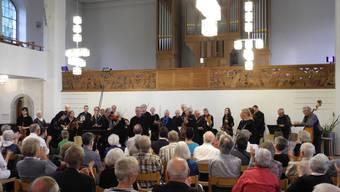 Fagottist Mihaly Fliegauf begleitete das Streichorchester Dietikon als Solist.