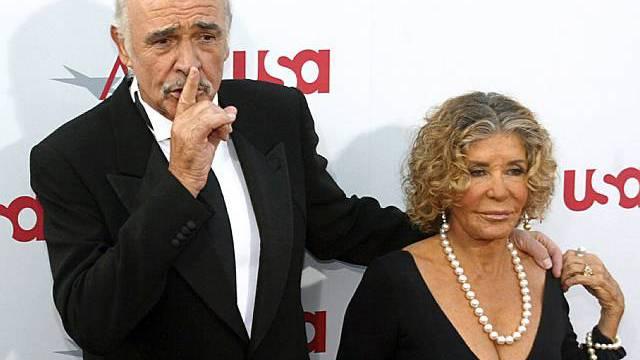 Sean Connery mit Ehefrau Micheline Roquebrune (Archiv)