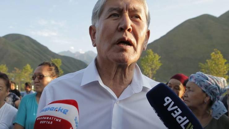 Dem kirgisischen Ex-Präsidenten Almasbek Atambajew wird nun auch ein Putschversuch vorgeworfen. (Archivbild)