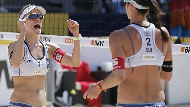 Geglückter EM-Auftakt für Nadine Zumkehr (links) und Joana Heidrich
