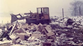Ein Bild aus den 1970er-Jahren. Der Abfall wurde damals sorglos auf dem Solothurner Stadtmist abgeladen.