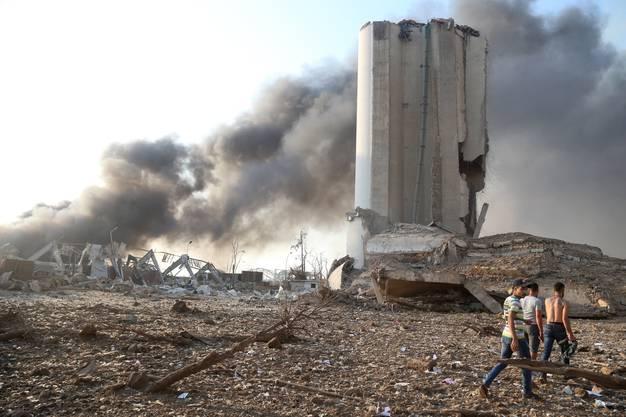 Das völlig zerstörte Hafenviertel von Beirut: Das Volk macht die Politiker für die Katastrophe verantwortlich.