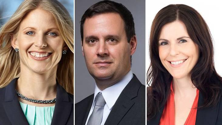 Sie wollen ans Bezirksgericht: Gabriela Furter, Daniel Peyer und Natalie Sax.