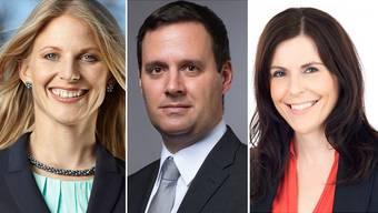 Sie stellten sich zur Wahl: Gabriela Furter, Daniel Peyer und Natalie Sax.