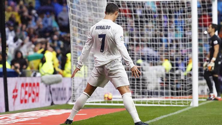 War Reals grosser Unterhalter beim 2:1 gegen Sporting Gijon: Cristiano Ronaldo.