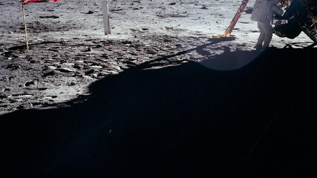 Die Nasa will mit einem neuen Programm den Mond erkunden. Im Bild die erste Landung auf dem Mond im Jahre 1969. (Archivbild)