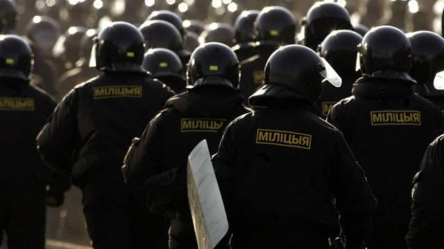 Eine Gruppe Polizisten in Weissrussland (Archiv)